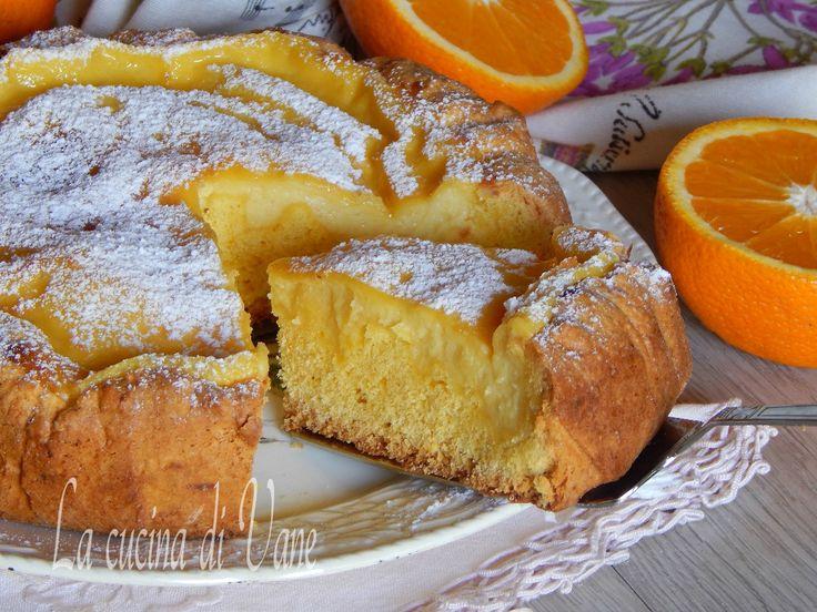 crostata morbida all'arancia.
