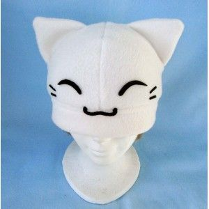 white Kitty, gato,cat,gorro,hat,fabric,tela