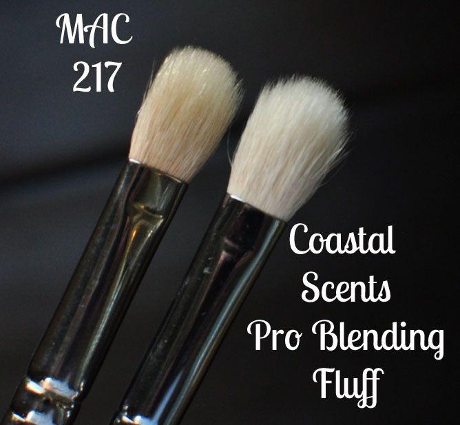 Dupe Alert! Coastal Scents Pro Blending Fluff Brush vs. MAC 217 Brush