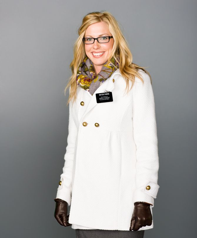 Winter time sister missionary