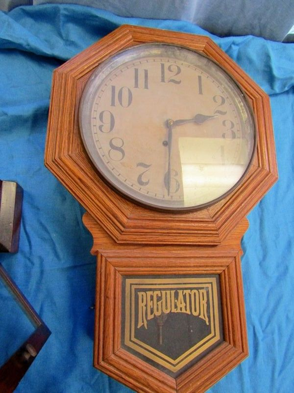 Two Antique Clocks Including An 8 Day F. Kroeber, NY, Dictator Shelf Clock  With Mahogany Case, 17.5