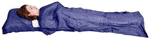 Camping Sleeping Bag Accessories - Marycrafts 100 Pure Mulberry Silk Single Sleeping Bag Liner Travel Sheet Sleepsack 83x33 * Visit the image link more details.