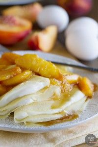 Simple Crepe Recipe with Peaches and Cream - Taste and Tell