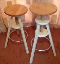 Merveilleux Dining Room/Kitchen/Bar Solid Screw Top Wooden Stools Ebay