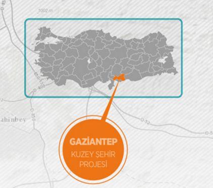 Sosyal konut alanında uygulaması tek seferde gerçekleştirilen, Türkiye'nin en büyük konut projesi olan Gaziantep'teki ''Kuzey Şehir''de inşaatlar hızla yükselirken, projenin yaklaşık yüzde 10'unun tamamlandığı bildirildi.