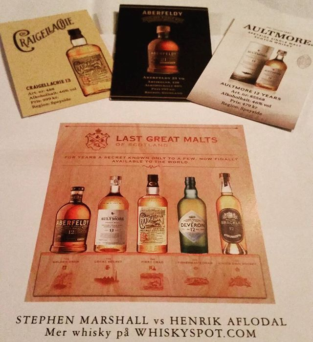 Time for some nice drams! #dramtime #whisky #lastgreatmalts…