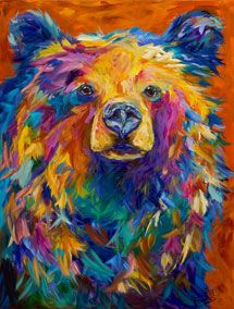 moose painting by artist Linda Israel...what? this is not a moose. lol