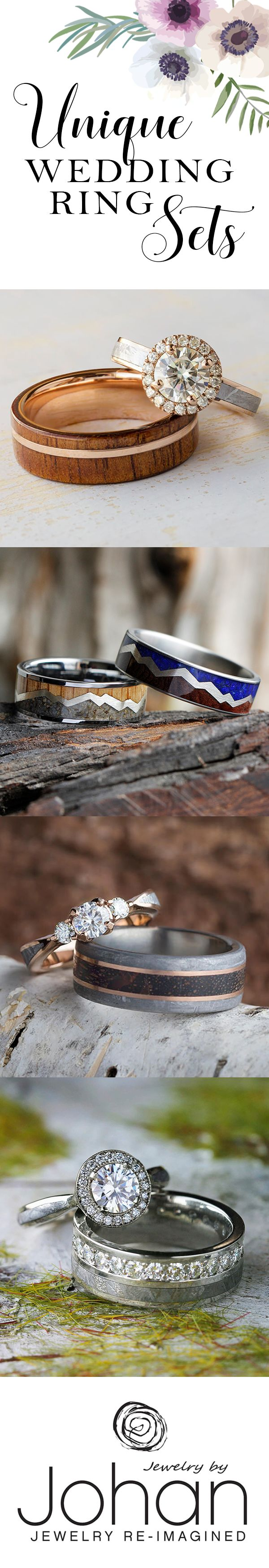 Express your love AND individual sense of style with one of our stunning wedding ring sets.