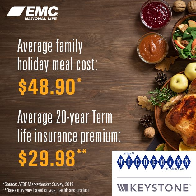 Life Insurance Cost Family Holiday Meals Life Insurance Premium