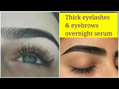 How to get thick dark eyelashes & eyebrows naturally, Natural big eyelashes home remedy.