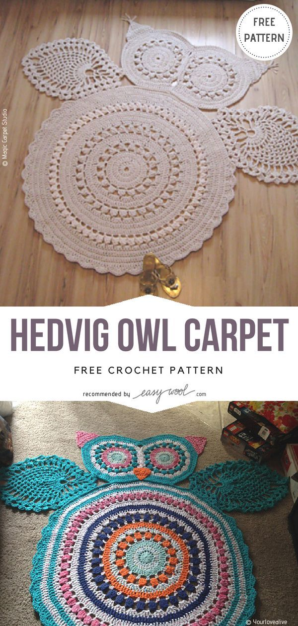 Funniest Animal Rugs Collection – Free Crochet Patterns | EASYWOOL ...