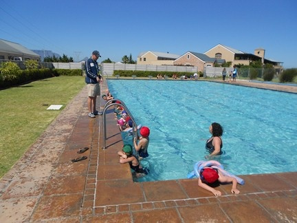 Blouberg Preparatory Grade 1s had their first day of swimming during their Phys Ed period.