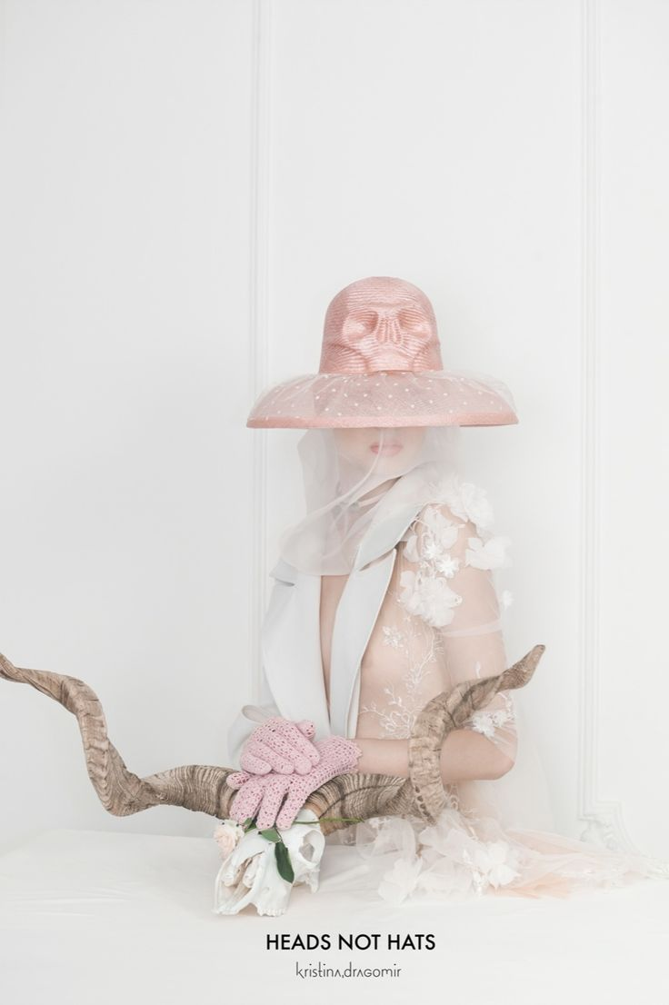 I strongly believe that a hat has to be one with the person wearing it and make a beautiful head. I'd like to think that I make heads not hats. http://kristinadragomir.com/shop/#/New%20collection%20Skull