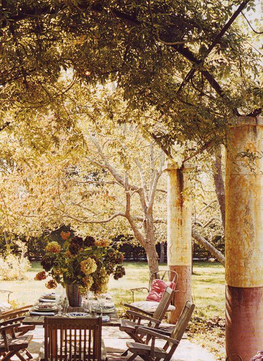 : Rustic Pergolas, Columns, Dresses Design, Backyard, Gardens Parties, Outdoor Spaces, Beautiful Outdoor, Decor Blog, Canopies
