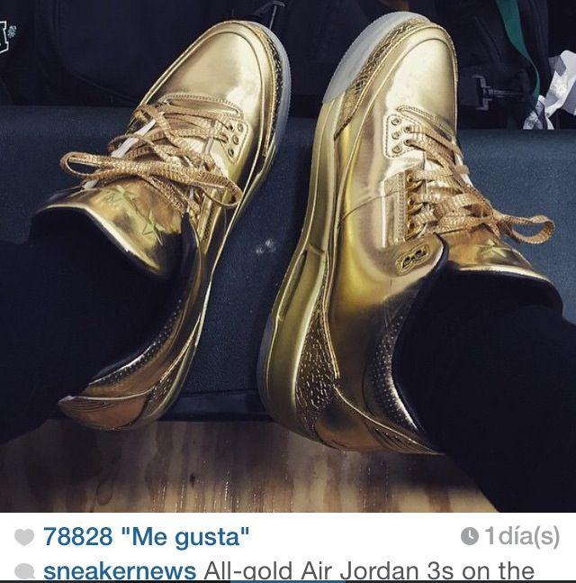 Golden air jordans