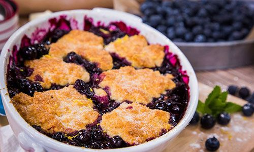 RECIPE for my Blueberry Cobbler... created this dish just for Hallmark Channel's Home and Family...
