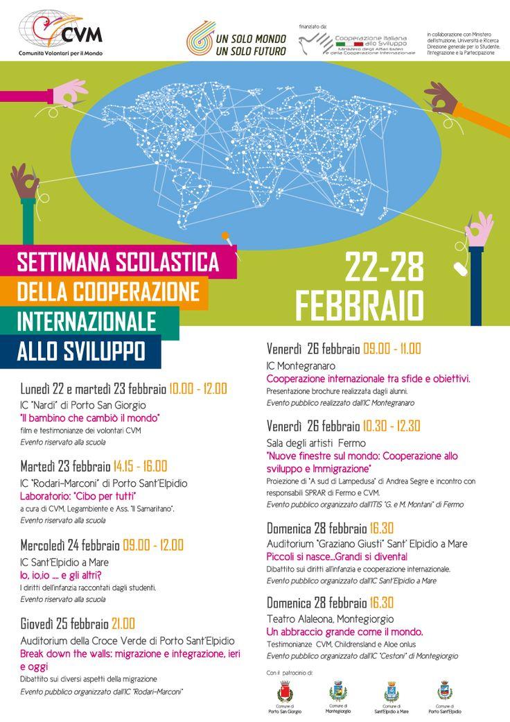 Dal 22 Al 28 Febbraio Settimana scolastica della cooperazione internazionale allo sviluppo