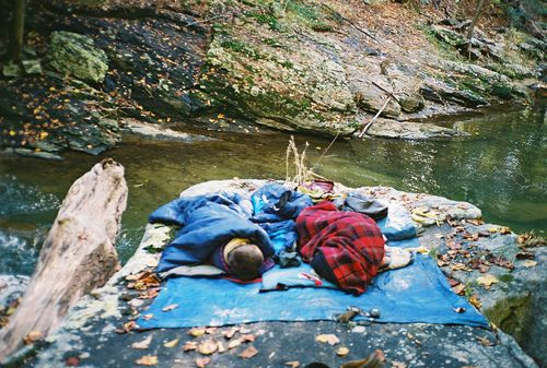 one time... we camped like this at Look out point reservoir... well. remember to put your bed above the water line!!!