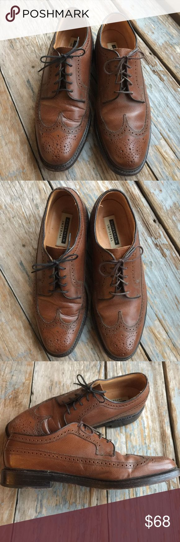 Florsheim Imperial Wingtips Classic brown wingtips. Great Florsheim quality. Good used condition. Florsheim Shoes Oxfords & Derbys