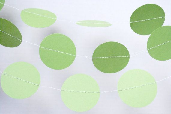 Lime Green Paper Garland  Lime Paper Garlands by MPaperDesigns
