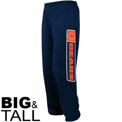 Chicago Bears Critical Victory VII Fleece Big & Tall Pants - Navy Blue