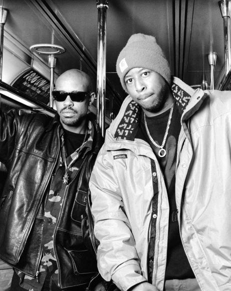 Gang Starr   NYC - 1993   Photo by Chi Modu
