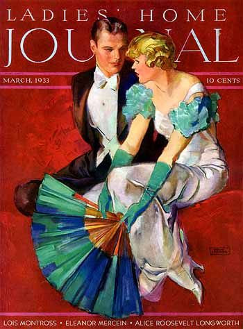 Ladies Home Journal - March 1933 -My mother's generation...I can tell with that hair style. Elegant and nostalgic.