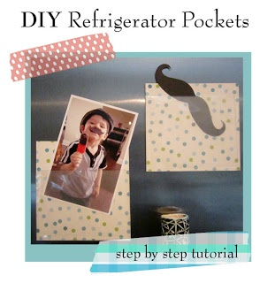 DIY Fridge Pockets!