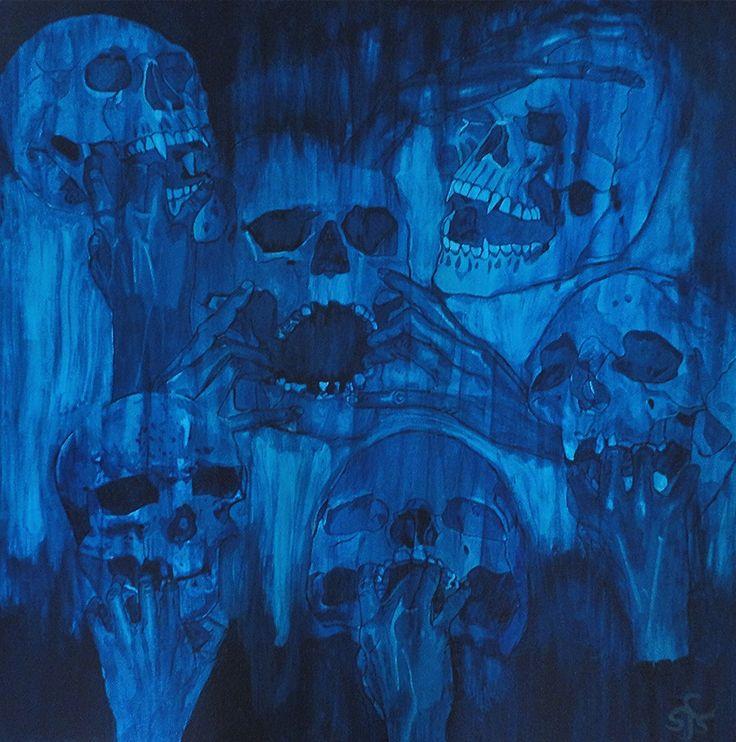 """Die blaue Hölle"", Acryl auf Leinwand"