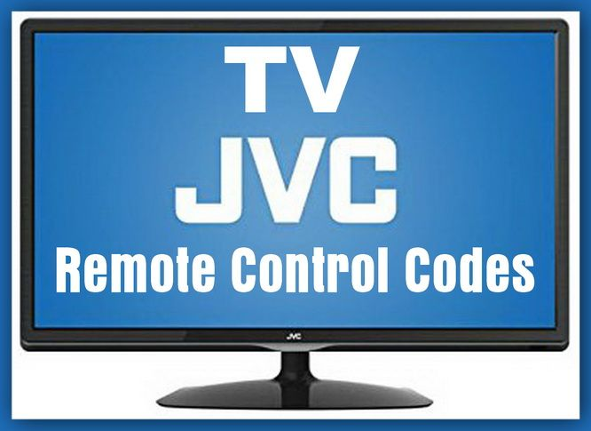 Remote Control Codes For JVC TVs