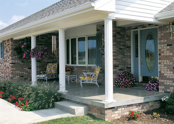 17 best images about front porch on pinterest for Round porch columns