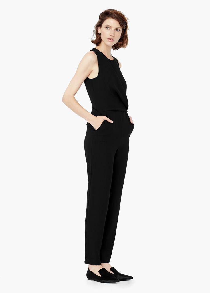 die besten 25 jumpsuit damen schwarz ideen auf pinterest. Black Bedroom Furniture Sets. Home Design Ideas