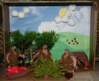 Alex had to make a diorama for his Social Studies class. They're studying Stone Age culture . The students could choose a scene from either ...