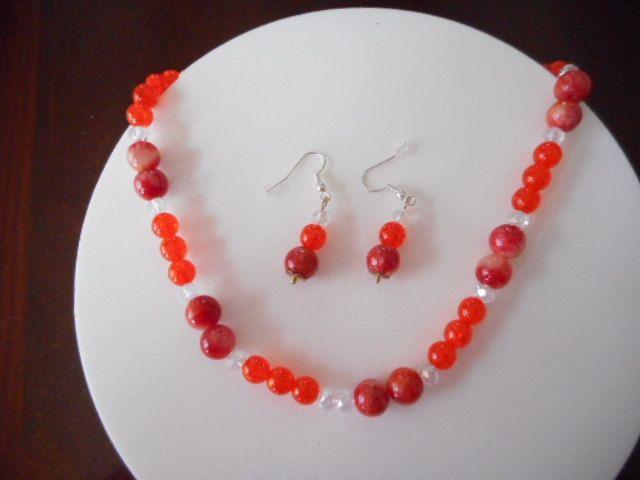 Collar Druk, collar naranja, collar con swarovski, Collar para mujer, collar…