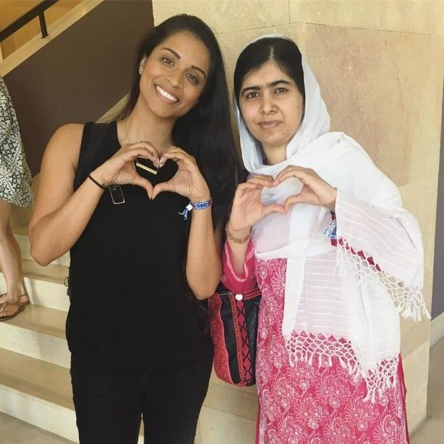 """Canadian YouTube superstar Lilly Singh a.k.a. """"Superwoman"""" met Pakistani girls' rights powerhouse Malala Yousafzai, and posted this…"""