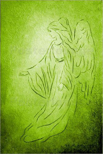 Engel der Heilung - Grün die Farbe der Heilung und der Genesung, des Wohlfühlens und der Harmonie. Gemälde als Kunstdruck neu bei Posterlounge http://www.posterlounge.de/engel-der-heilung-abstrakt-pr527277.html