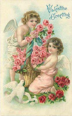 Sweet Valentine Vintage postcard from my sweet friend at http://rainebeau.blogspot.com/