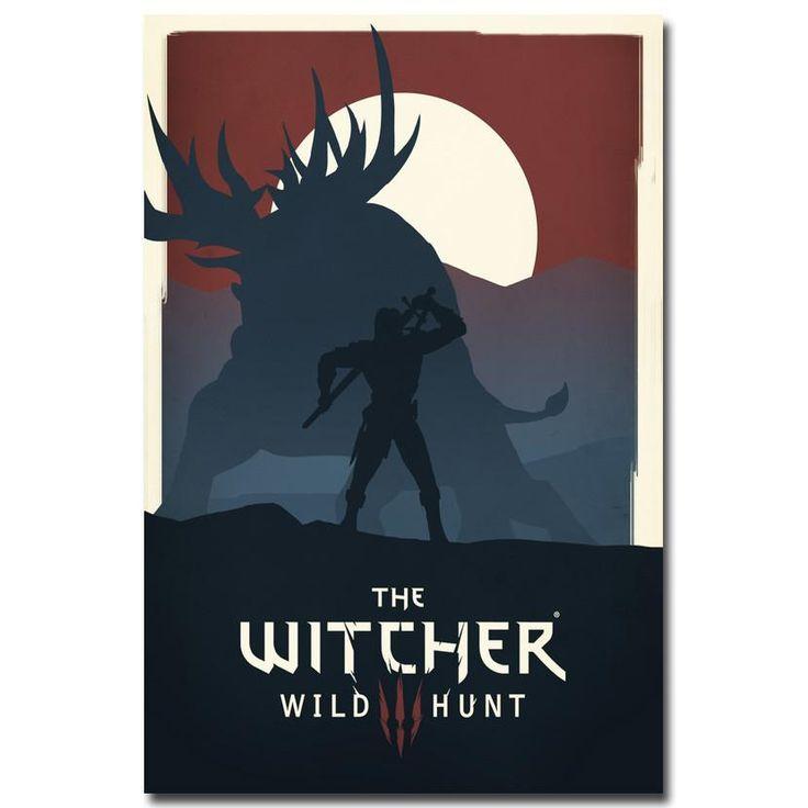 The Witcher 3 Wild Hunt Minimalist Style Silk Poster