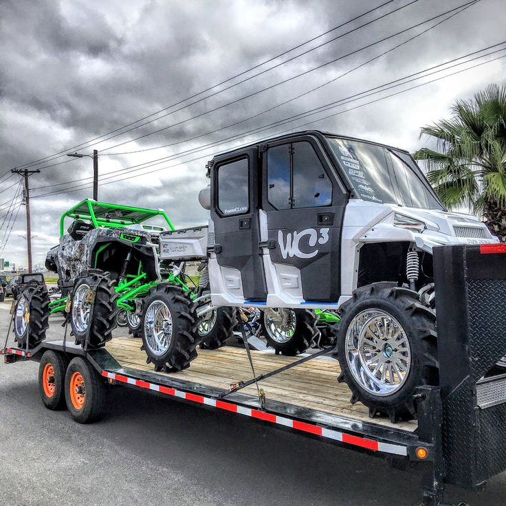 Our entries for SEMA are on the trailer and heading out West. One pretty cool Polaris Ranger Crew and one pretty trick Polaris General. http://www.woodsc3.com/ #WC3 #WoodsCycleCountry #PolarisRanger #PolarisGeneral #SEMA #SEMA2016