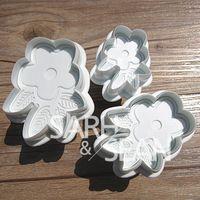 Slh129 персик с листьями фондант кат-аутов формы для кексов пресс для кухни выпечки украшения торта 3 шт. / комплект