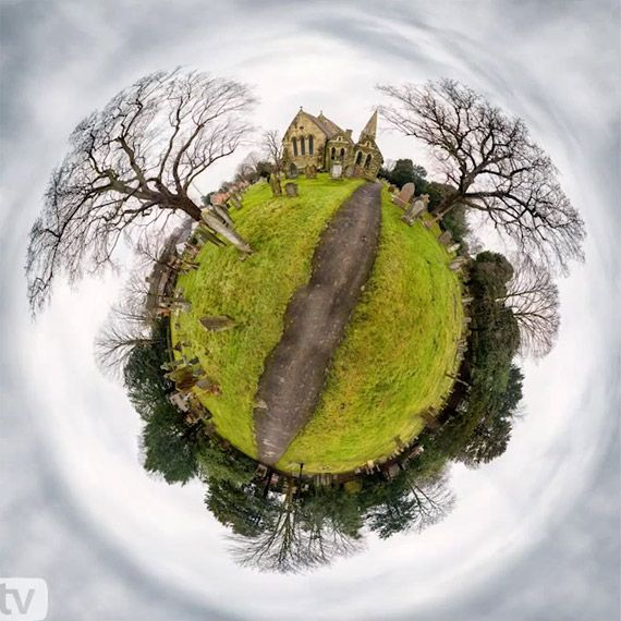 How To Create A Little Planet Panorama In Photoshop. Article by Miki Ross. Video: Gavin Hoey. http://www.picturecorrect.com/tips/how-to-create-a-little-planet-panorama-in-photoshop/