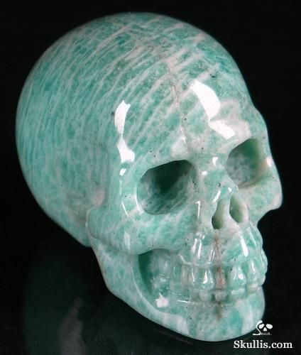Amazonite Carved Crystal Skull