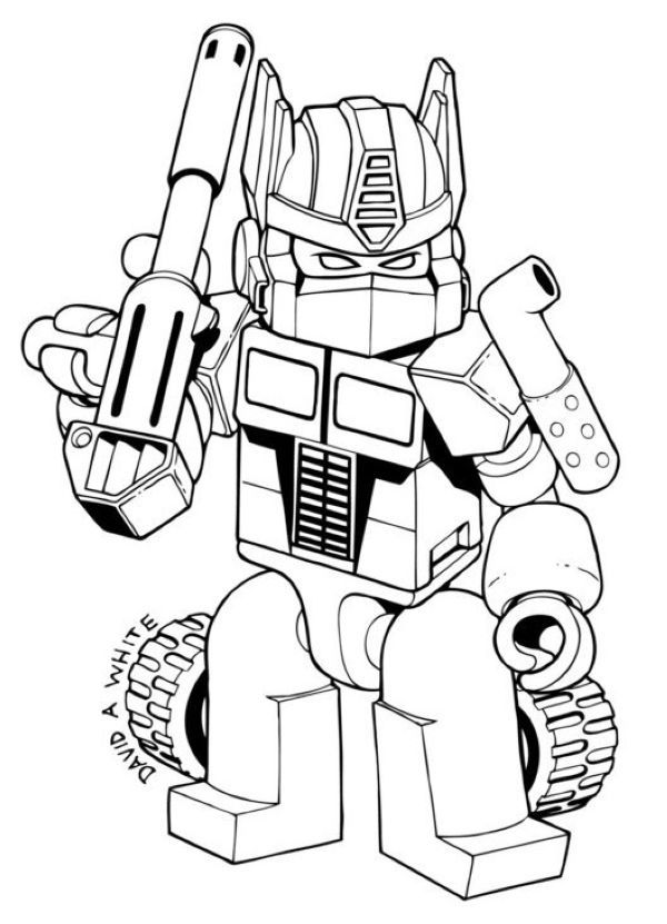Great Optimus Prime Coloring Pages Free Lego Coloring Pages