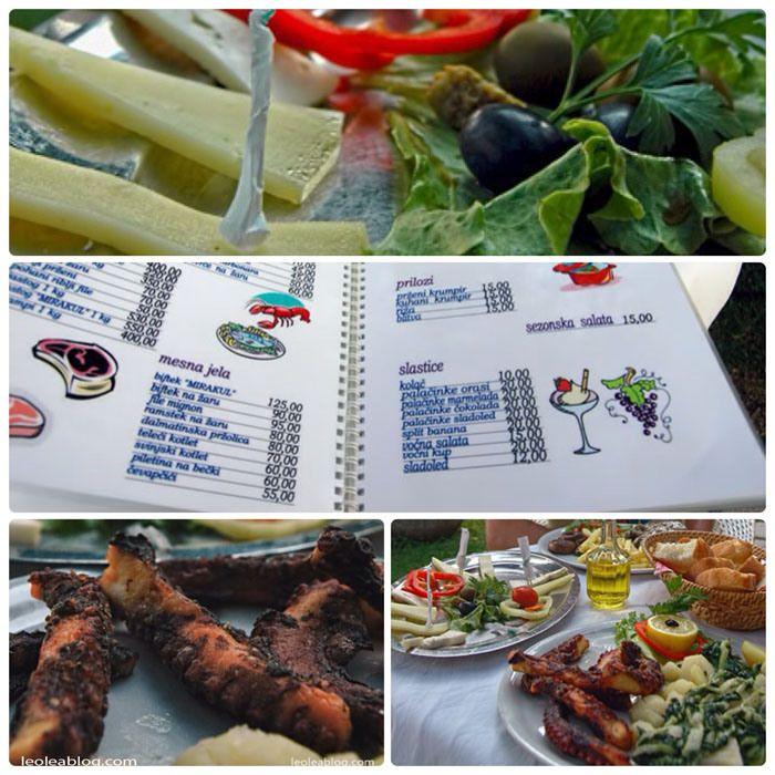 Chorwacja - Croatia  #croatia #hrvatska #croatien #chorwacja #ontheseaside #riwieramakarska #rivierija #eu #europe #dalmatia #dalmatien #beach #slano #menu #cheese #octopus #lunch #greatdish #deliciousfood #pysznejedzenie #jedzenie #restaurant
