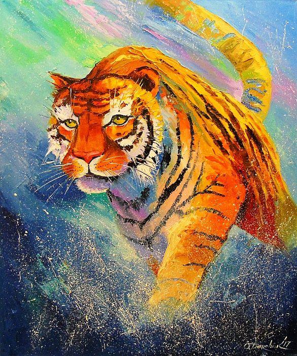 снежинку счастья картинки тигров красками нас это