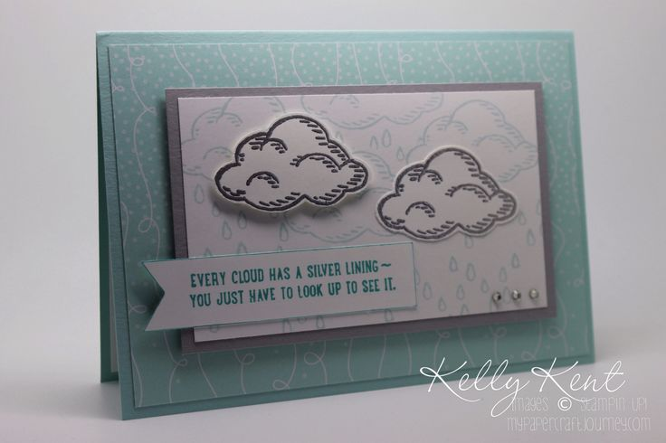 New product sneak peak. Tree builder punch, Sprinkles of Life stamp set & Cherry on Top DSP. Silver clouds. Kelly Kent - mypapercraftjourney.com.