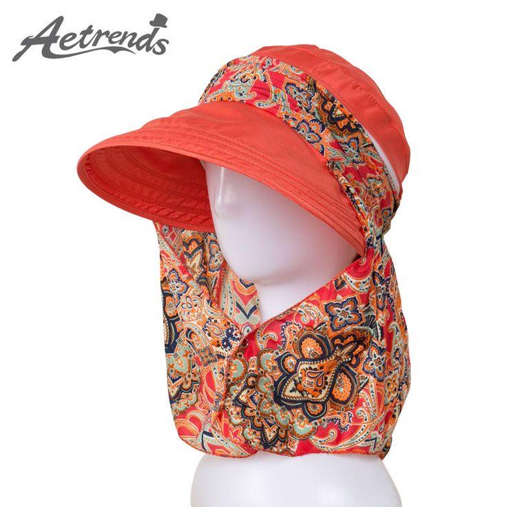 [AETRENDS] 2017 Новый Дамы Шляпы Широкими Полями Вс Hat Женщины УФ Защитой Летние Крышка Цветочный Дизайн Пляж Шляпы Z 5154 купить на AliExpress