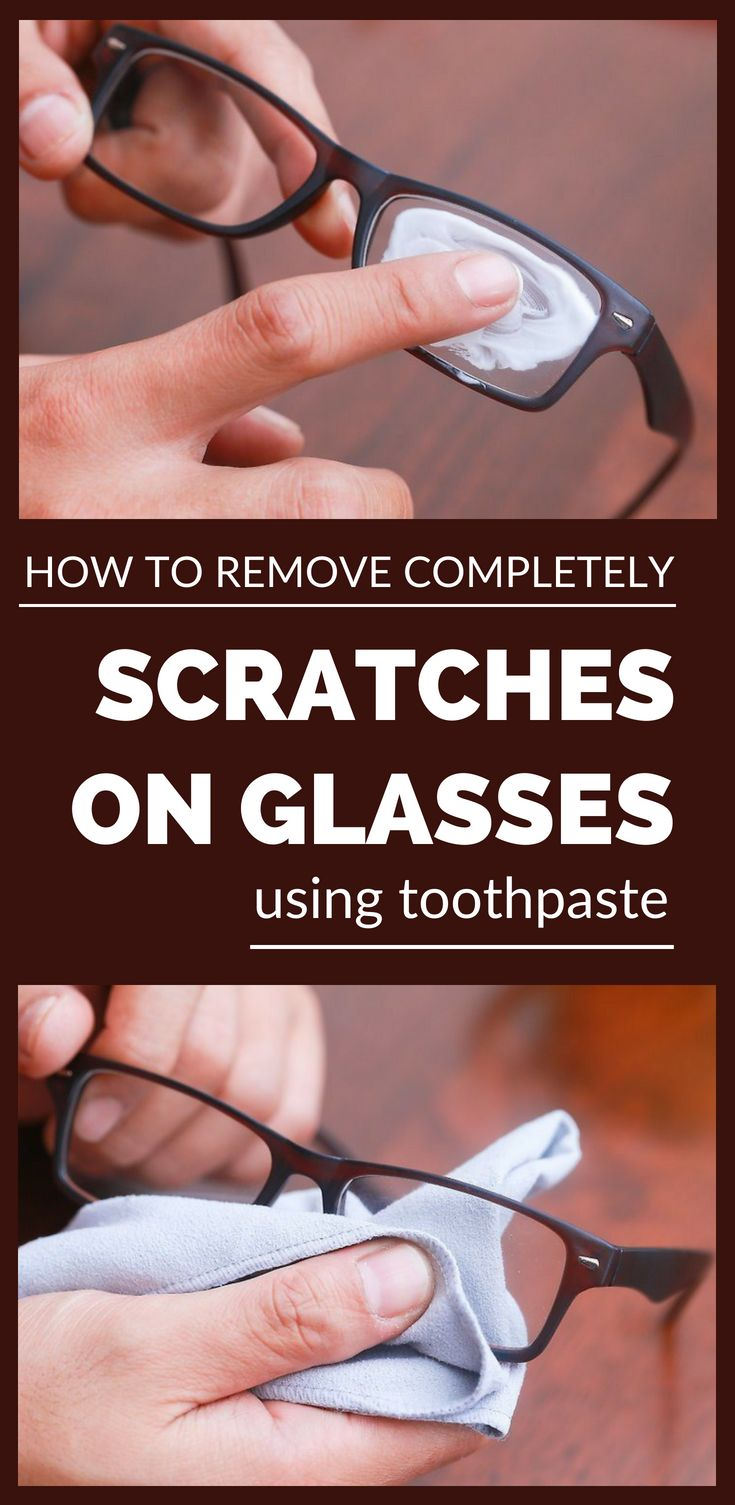How to remove completely scratches on glasses using
