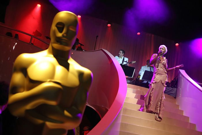 Academy of Motion Pictures Arts & Sciences' Governors Ball: Oversize Oscar statues underscored the occasion as Tony-winning singer-songwriter Cynthia Erivo (pictured) performed. The evening's entertainment also included JoJo, music director Rickey Minor, and husband-wife DJs Kiss and M.O.S.