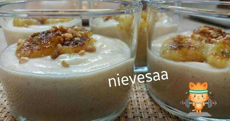 Fabulosa receta para Mousse de plátano 🍌🍌. Cuando estoy a dieta y quiero darme un Caprichito 😉 ...está D Rechupete!